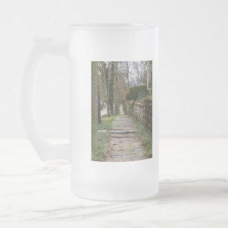 Unlevel Pathway Frosted Glass Beer Mug