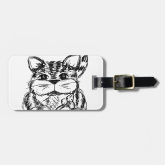 Unlikely Friends Cat and Mouse Luggage Tag
