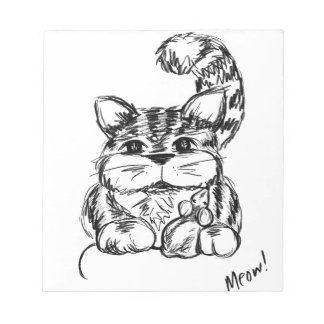 Unlikely Friends Cat and Mouse Notepad