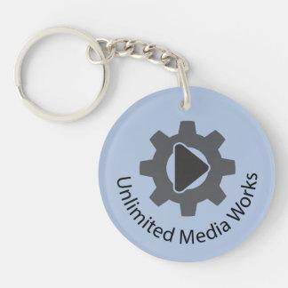 Unlimited Media Works Double-Sided Round Acrylic Key Ring