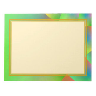 Unlined Colorful Green 8.5x11 Note Pad