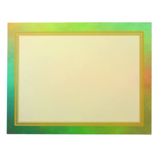 Unlined Green Plasma 8.5x11 Note Pad