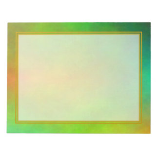 Unlined Green Plasma Large Note Pads