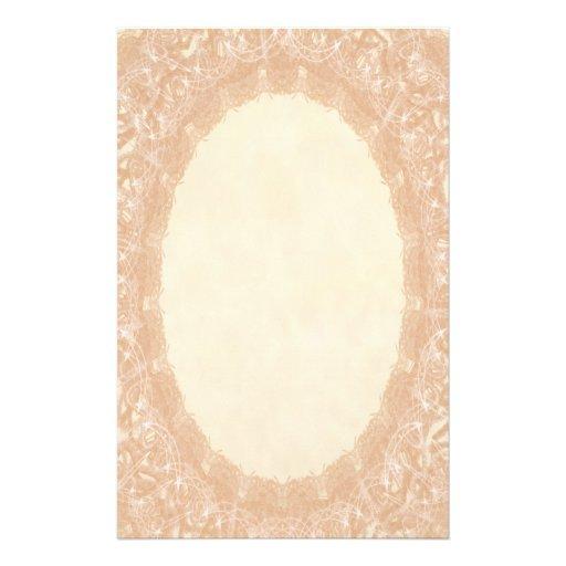 Unlined Monogram Cream I Wedding Lace Stationery