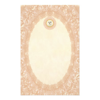Unlined Monogram Cream I Wedding Lace Stationery