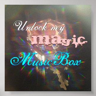 Unlock my Magic MusicBox 28x20 Value Poster