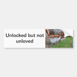 unlocked bumper sticker