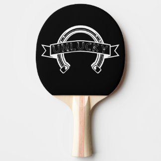 Unlucky Horseshoe Bad Luck Ping Pong Paddle
