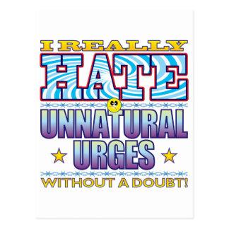 Unnatural Urges Hate Face Postcard