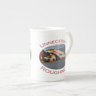Unnecessary Roughness Bone China Mugs