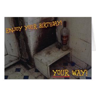 Unpleasant Birthday Card
