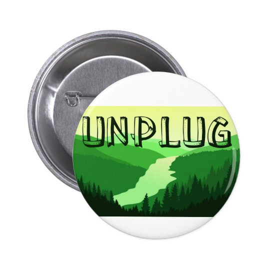 Unplug 6 Cm Round Badge
