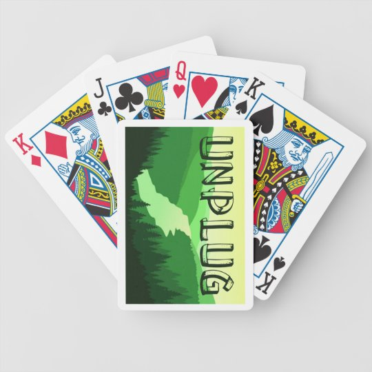 Unplug Bicycle Playing Cards