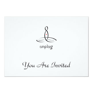 Unplug - Black Fancy style 13 Cm X 18 Cm Invitation Card