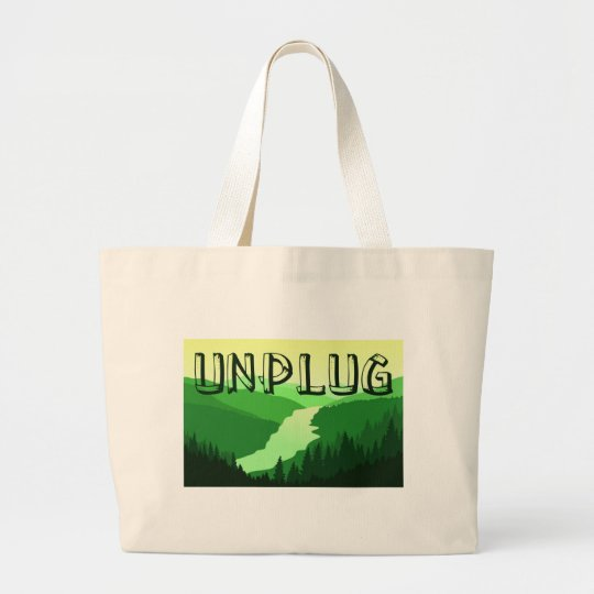 Unplug Large Tote Bag