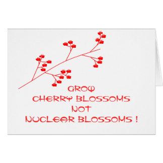 UNPLUG NUCLEAR POWER GREETING CARD