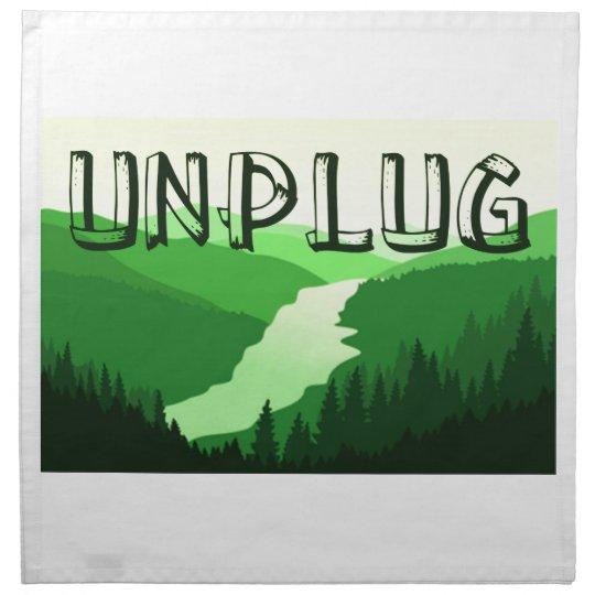Unplug Printed Napkin