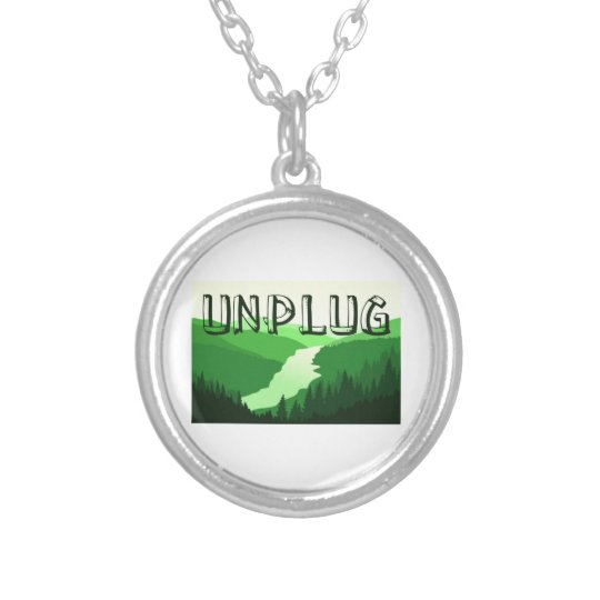 Unplug Silver Plated Necklace
