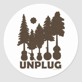 Unplug Sticker