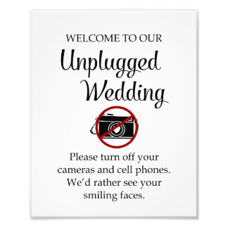 Unplugged Wedding Print