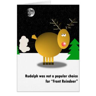 Unpopular Christmas card Greeting Card