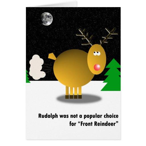 Unpopular Rudolph Christmas card