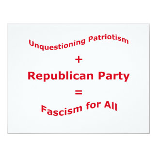 Unquestioning Patriotism Invite