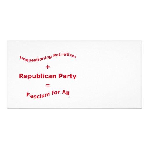 Unquestioning Patriotism Photo Cards