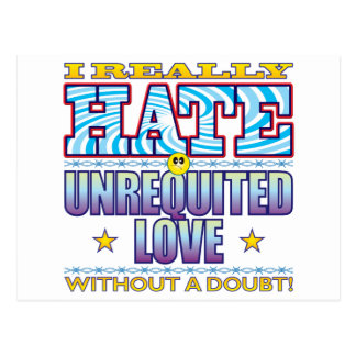 Unrequited Love Hate Face Postcard