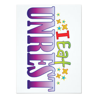 Unrest I Eat 14 Cm X 19 Cm Invitation Card