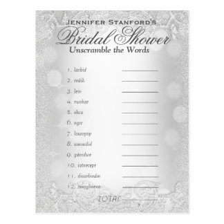 Unscramble the Words | Silver Elegance Postcard