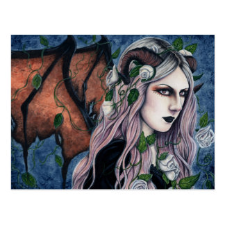 Unseelie Gothic Fairy Dark Fantasy Horns Postcard