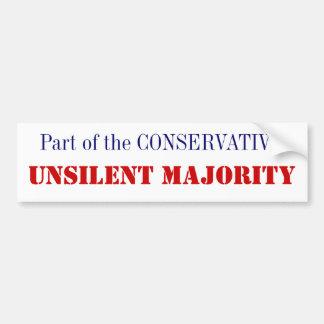 Unsilent Majority Bumper Sticker