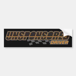 Unsponsored Driver Flag Bumper Sticker