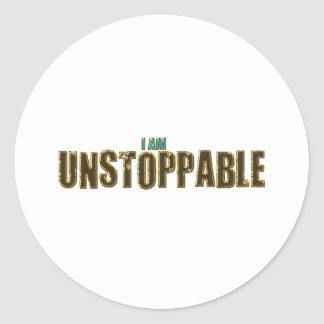 Unstoppable Classic Round Sticker