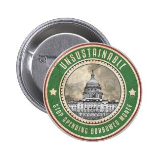Unsustainable 6 Cm Round Badge