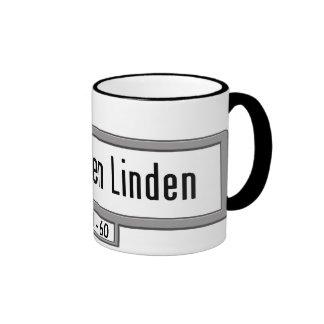 Unter den Linden, Berlin Street Sign Ringer Mug