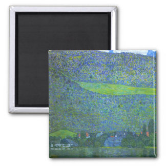 Unterach at the Attersee by Gustav Klimt Magnet