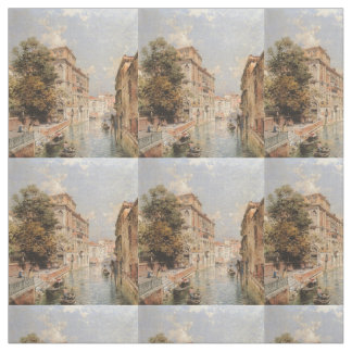 Unterberger's Venice art custom fabric
