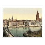 Untermainquai, Saalhof and Cathedral, Frankfort on Postcard