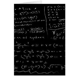 Untidy Chalk Board Card