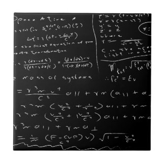 Untidy Chalk Board Ceramic Tile