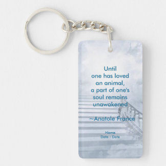 Until Pet Memorial Necklace Double-Sided Rectangular Acrylic Key Ring