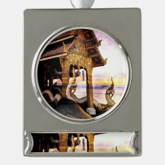 Until the End of Time Silver Plated Banner Ornament