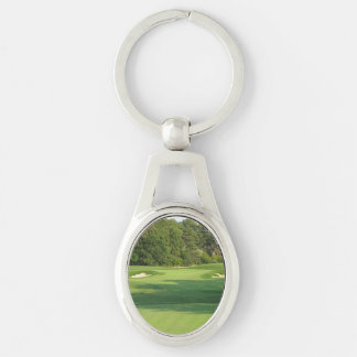 Untitled - 194 Silver-Colored oval metal keychain