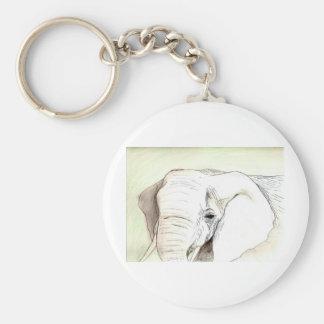 Untitled Elephant Art piece Basic Round Button Key Ring