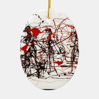 Untitled Jackson Pollock Ceramic Ornament