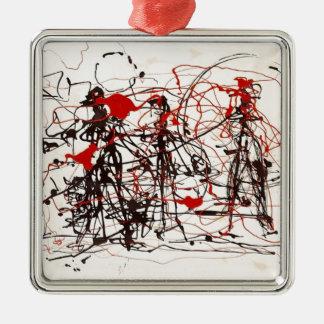 Untitled Jackson Pollock Metal Ornament