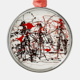 Untitled Jackson Pollock Silver-Colored Round Decoration