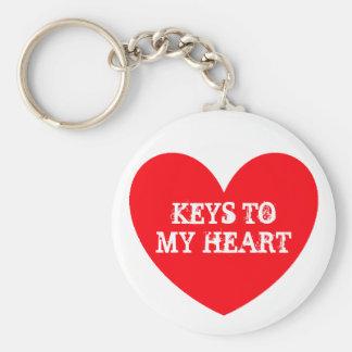 Untitled, KEYS TO MY HEART Basic Round Button Key Ring